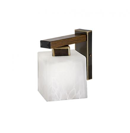Pietra 1-es fali lámpa patinált bronz+tölgy