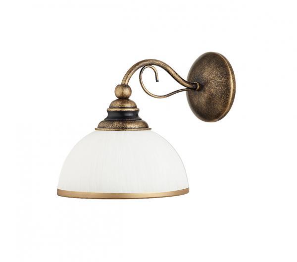 Valeria 1-es fali lámpa kézzel patinált bronz