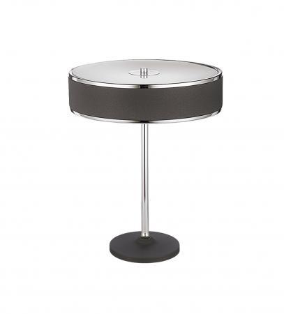 Gaetana 2-es asztali lámpa króm+grafitszürke