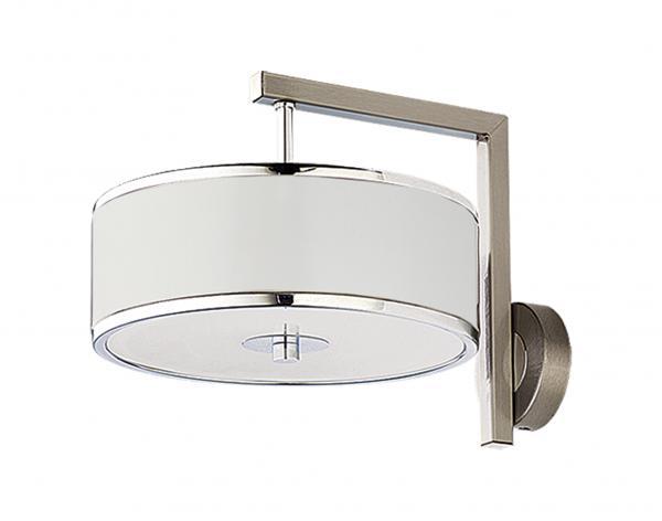 Gaetana 1-es fali lámpa króm+fehér