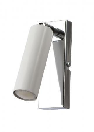 Sancia 1-es fali lámpa króm+fehér