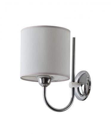 Trilby 1-es fali lámpa króm+fehér