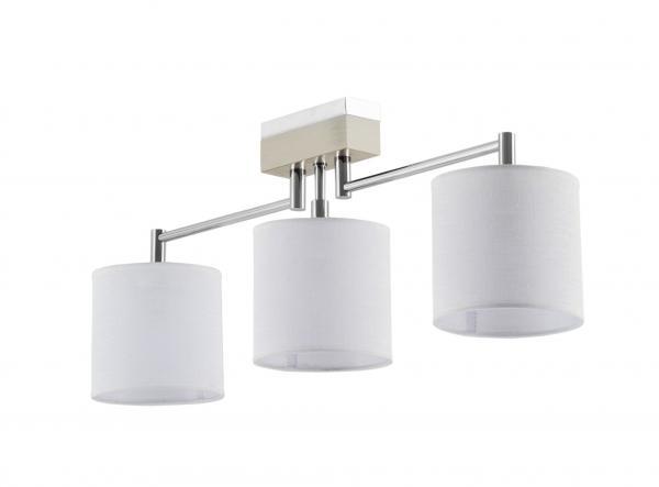 Mea 3-as mennyezeti lámpa króm+fehér