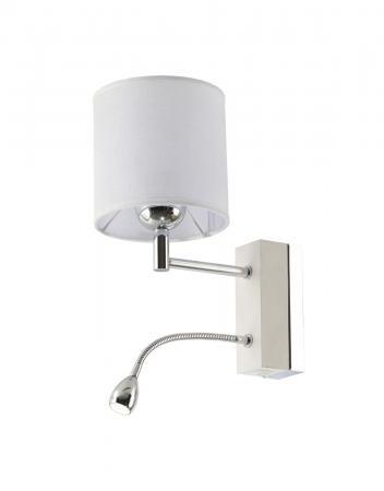Mea 1-es fali lámpa króm+fehér