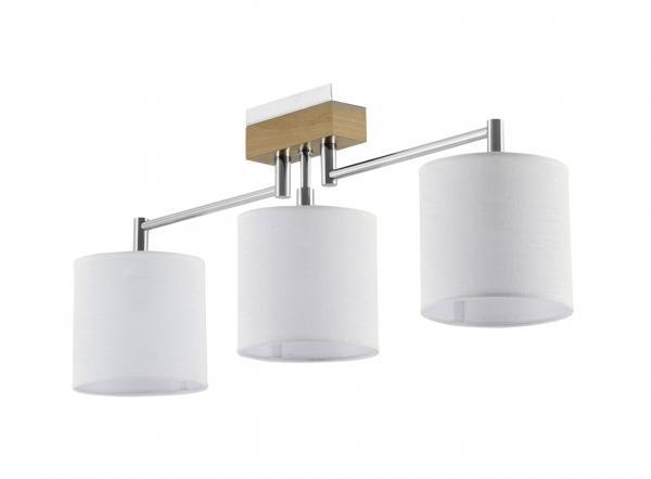 Mea 3-as mennyezeti lámpa króm+világos tölgy