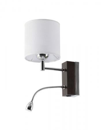 Mea 1-es fali lámpa króm+wenge